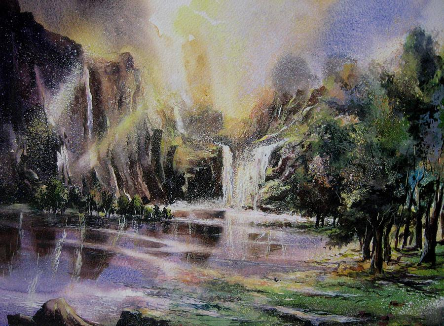 Mixed Media Painting - Dreamland by Sumit  Datta