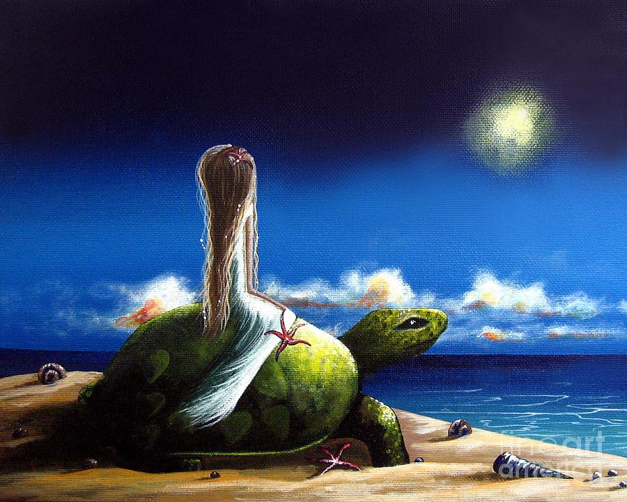 Turtles Painting - Dreams Before I Awake By Shawna Erback by Shawna Erback