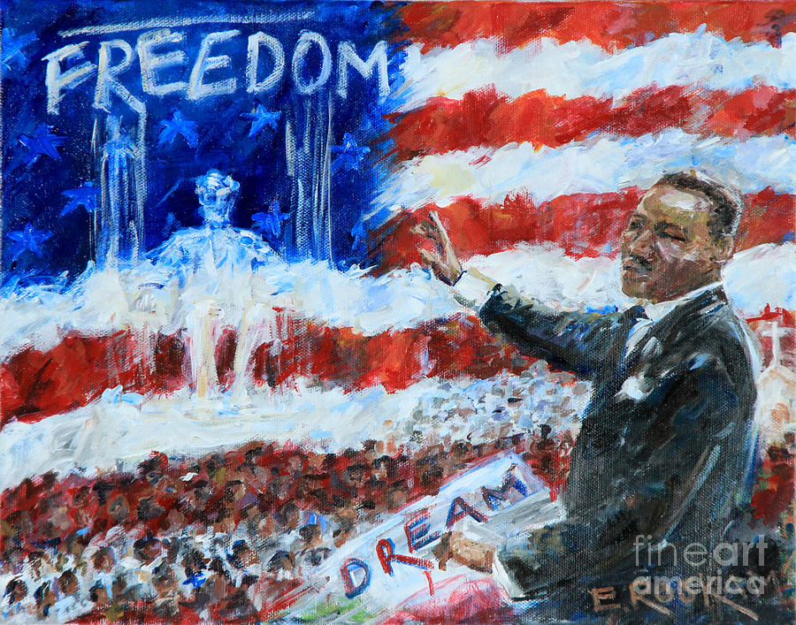 Martin Luther King Painting - Dreams Of Freedom by Elizabeth Roskam