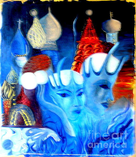 Surrealism Painting - Dreams Of Russia by Pilar  Martinez-Byrne