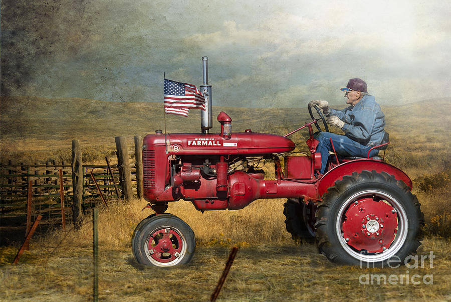 Tractor Photograph - Dreams Of Yesteryear by Betty LaRue