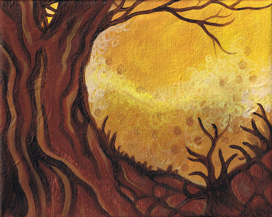 Trees Painting - Dreamscape In Fall Tones #1 Of 4 by Laura Noel
