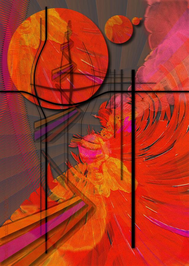 Tangerine Digital Art - Dreamscape 06 - Tangerine Dream by Mimulux patricia no No