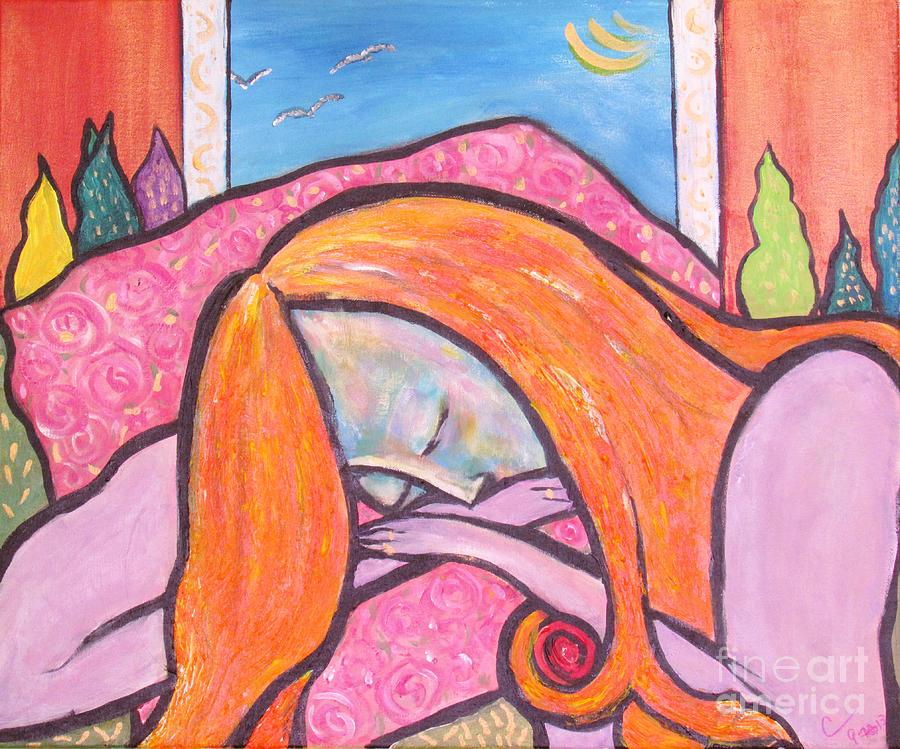 Woman Painting - Dreamscape by Chaline Ouellet