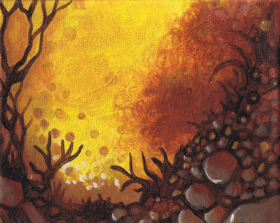 Trees Painting - Dreamscape In Fall Tones #3 Of 4 by Laura Noel