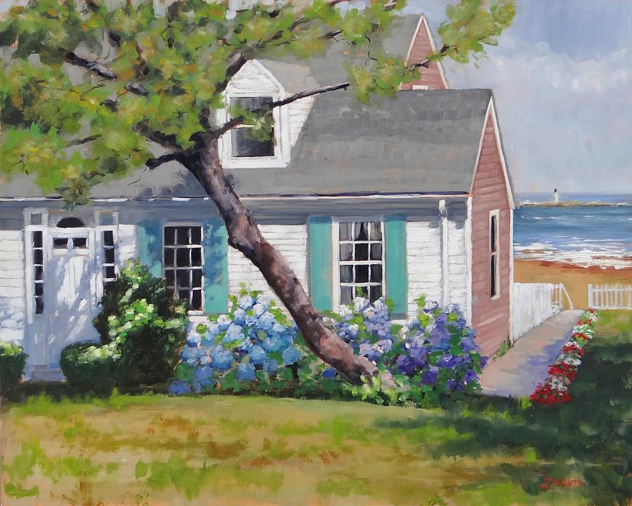 New England Painting - Dreamscape Two by Laura Lee Zanghetti