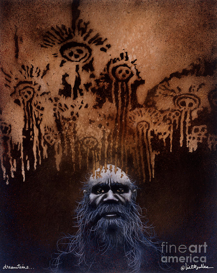 Will Bullas Painting - Dreamtime... by Will Bullas