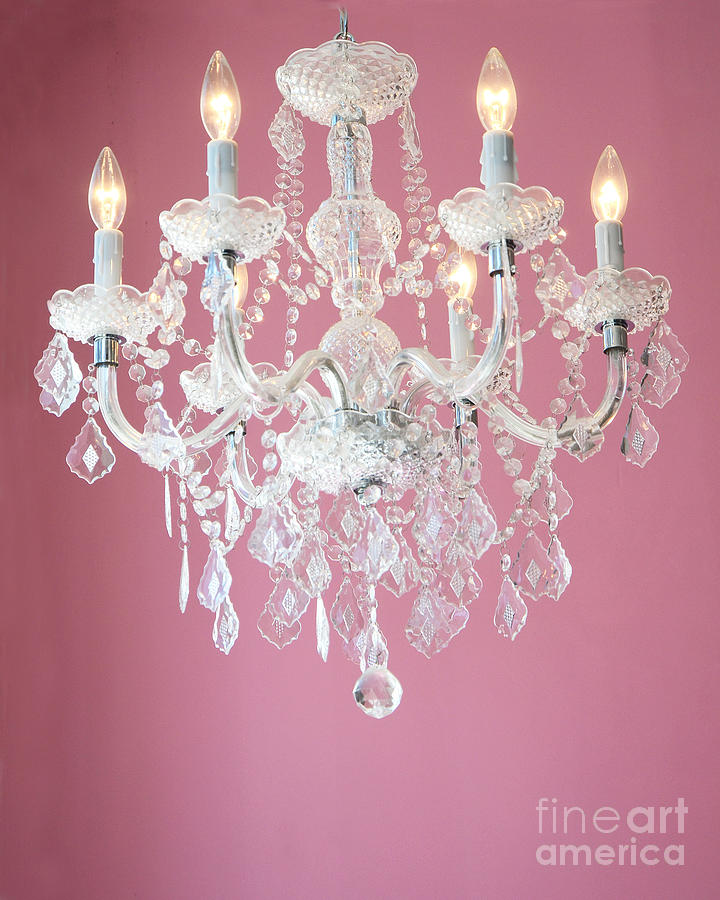 White And Pink Chandelier Chandeliers Design – Chandeliers for Baby Room