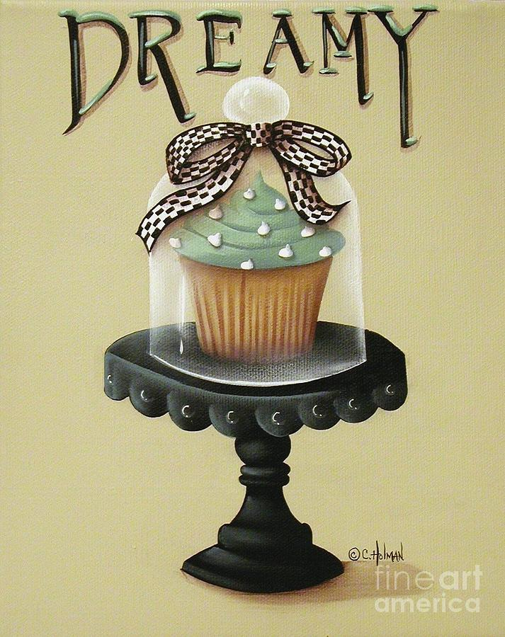 Print Painting - Dreamy Cupcake by Catherine Holman