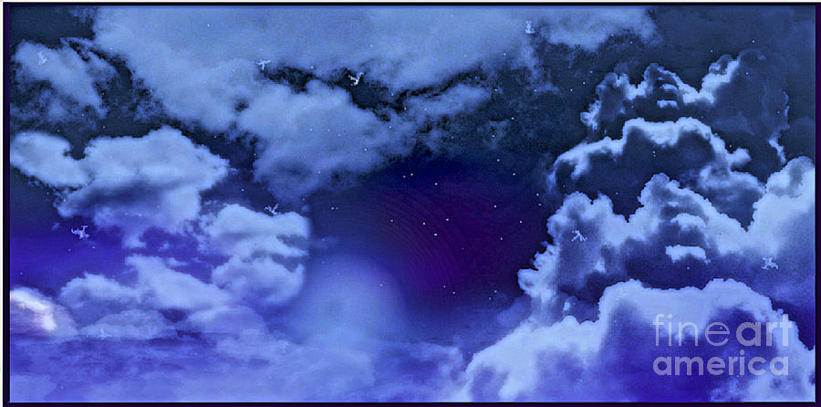 Dreamy Digital Art - Dreamy Night by Sheikh Designs
