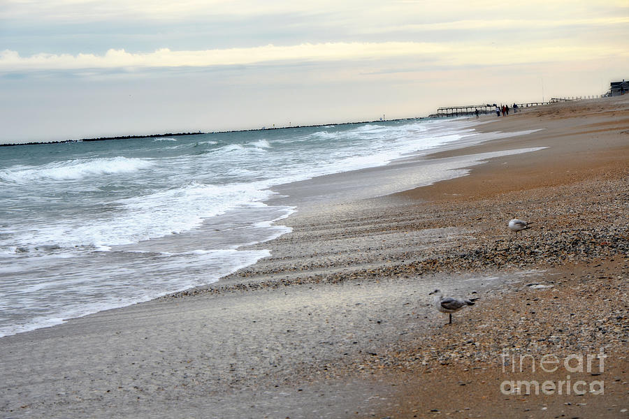 Ocean Waves Photograph - Dreamy Ocean Beach North Carolina Coastal Beach  by Kathy Fornal