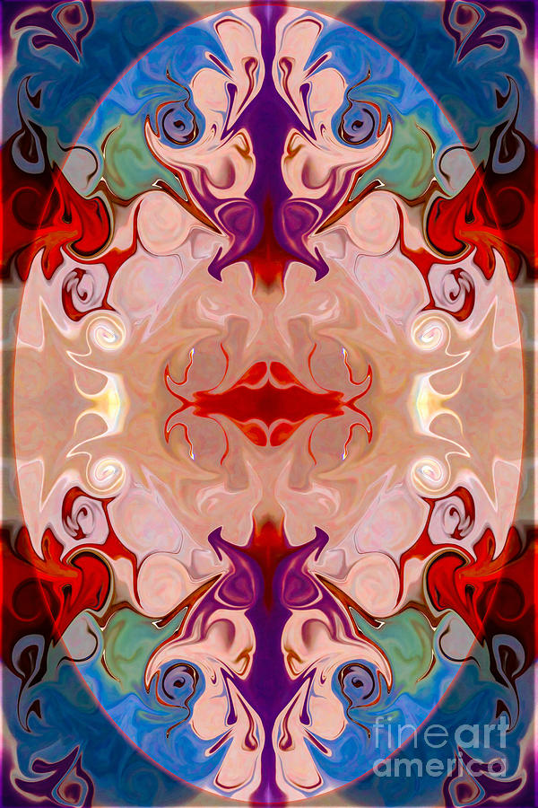 2x3 (4x6) Digital Art - Drenched In Awareness Abstract Healing Artwork By Omaste Witkows by Omaste Witkowski