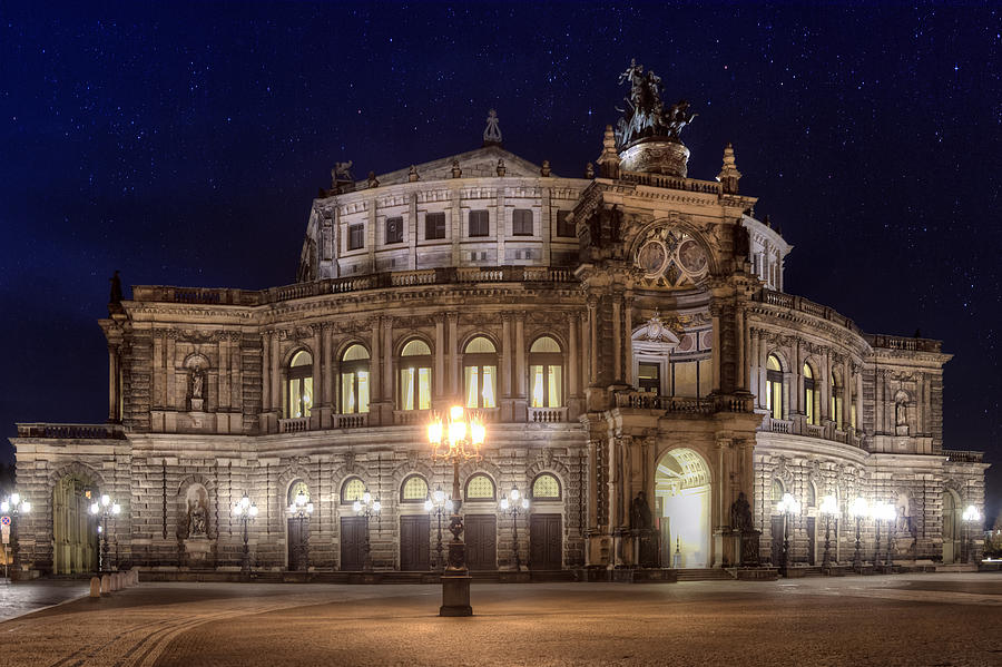 Dresden Photograph - Dresden Semperopera by Steffen Gierok