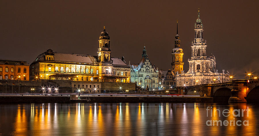 Documentary Photograph - Dresden The Capital Of Saxony I by Bernd Laeschke