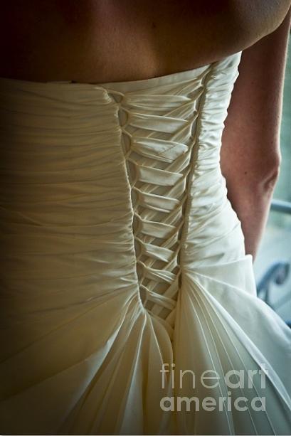 Weddings Photograph - Dress Detail by Jon Burch Photography