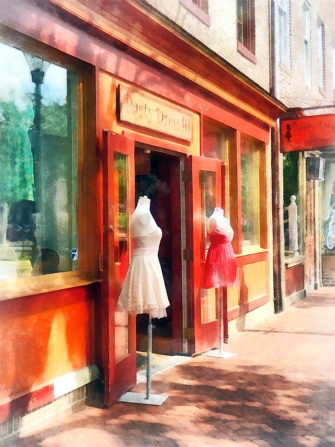 Dress Photograph - Dress Shop Fells Point Md by Susan Savad