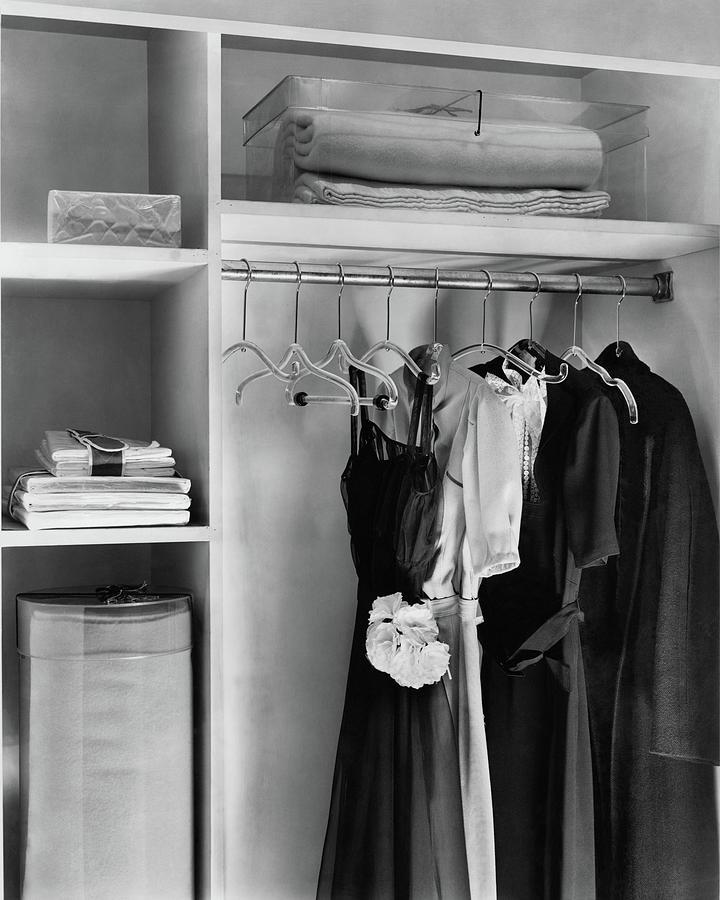 Dresses Hanging In A Closet Photograph by Dana B. Merrill