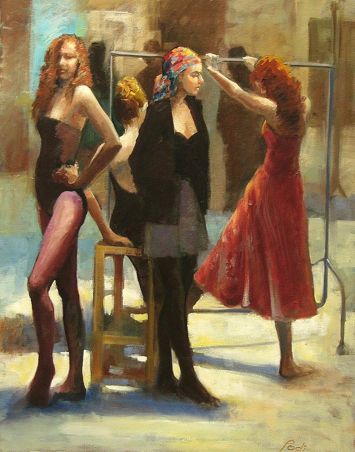 Girls Painting - Dressing Room by Podi Lawrence