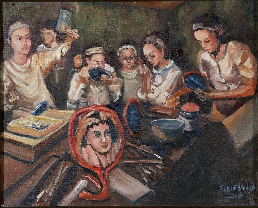Performers Painting - Dressing Room by Robin Dodge