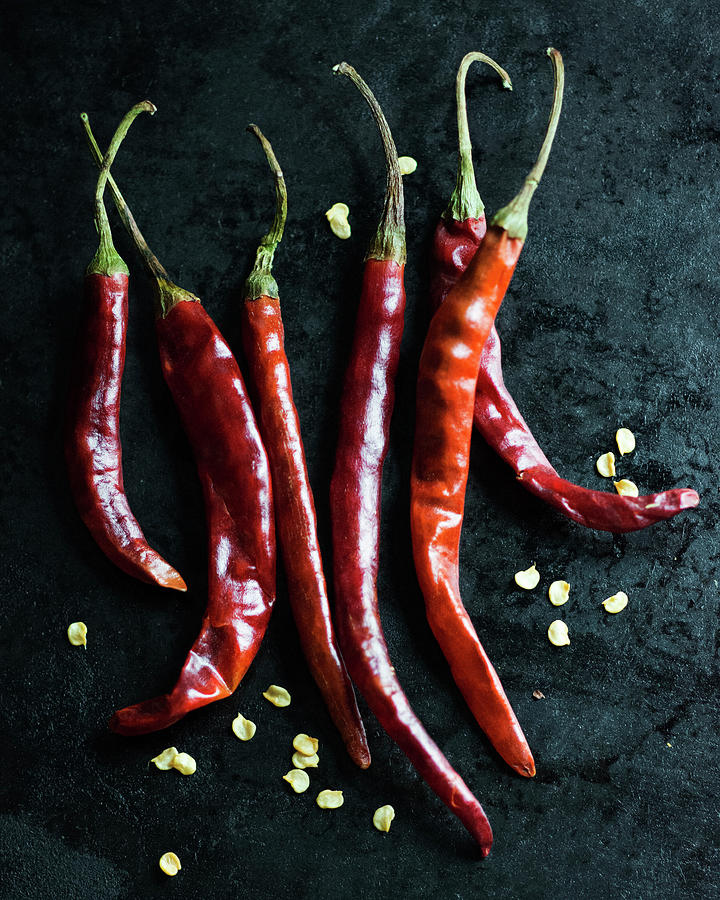 Dried Chilli Peppers Photograph by Jack Andersen
