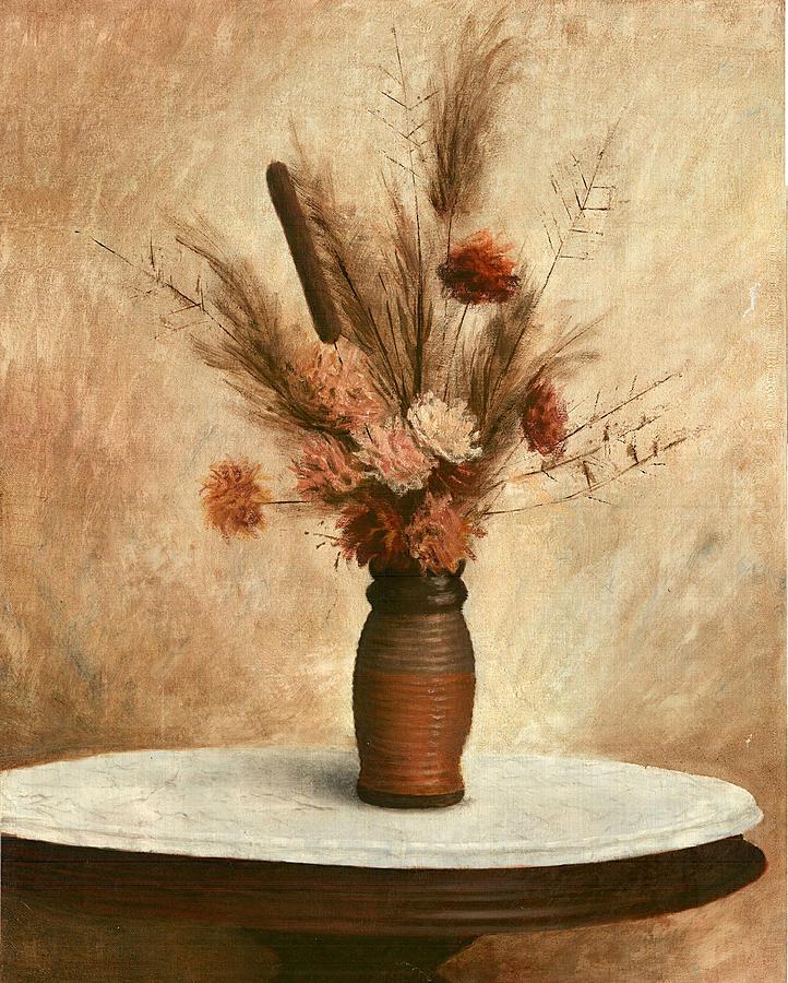 Dried Flower Arrangement Painting By G Linsenmayer