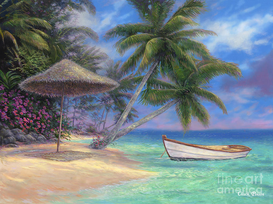 Tropical Painting - Drift Away by Chuck Pinson