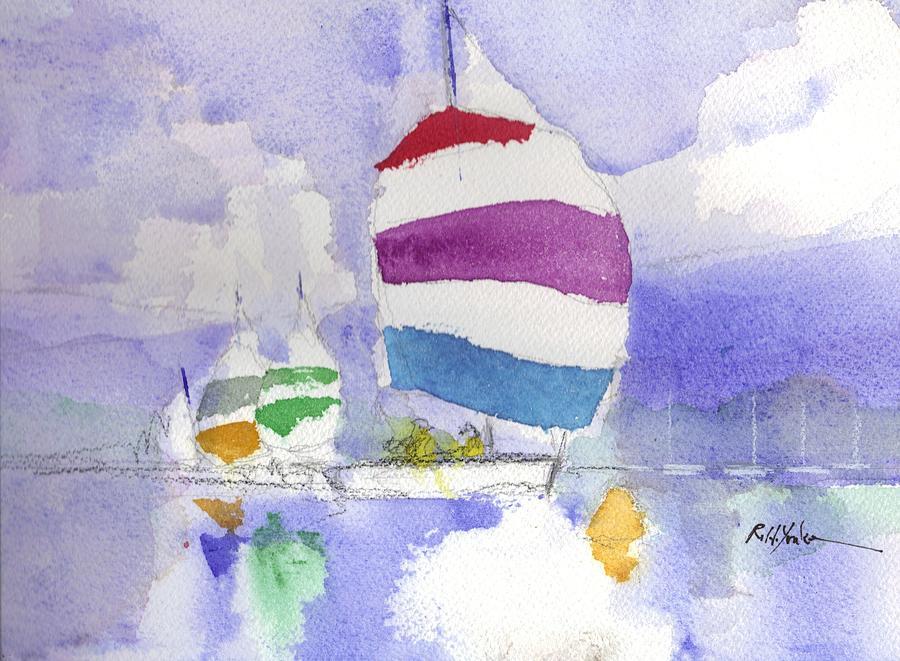 Sailboat Painting - Drifter by Robert Yonke