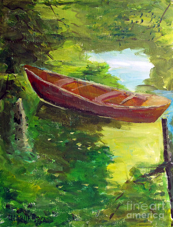 Renoir Painting - Drifting by Charlie Spear