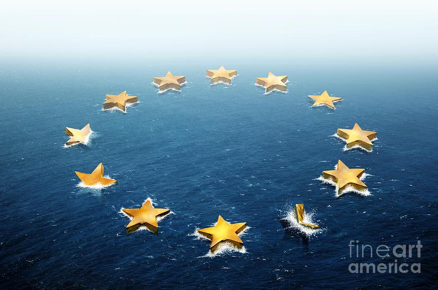 Bankruptcy Photograph - Drifting Europe by Carlos Caetano