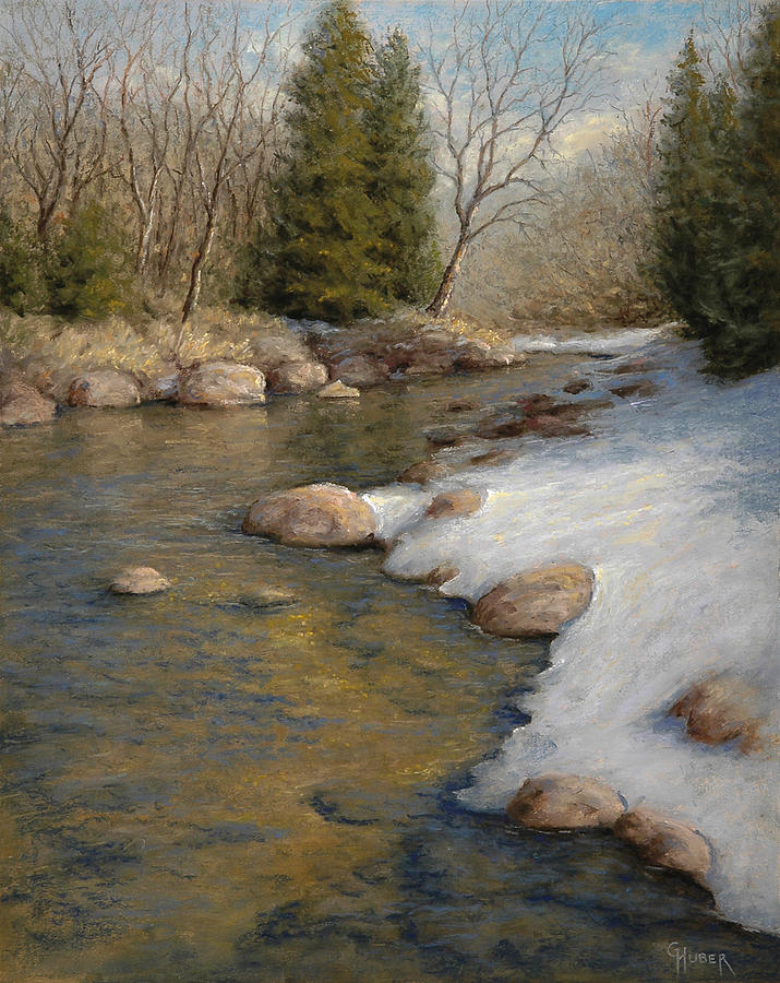 Pastel Painting - Drifting into Spring by Gary Huber
