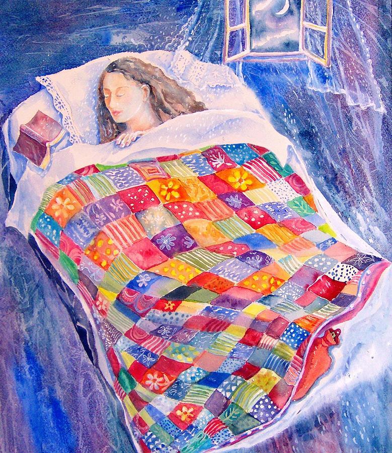 Dreamland Painting - Drifting To Dreamland by Trudi Doyle