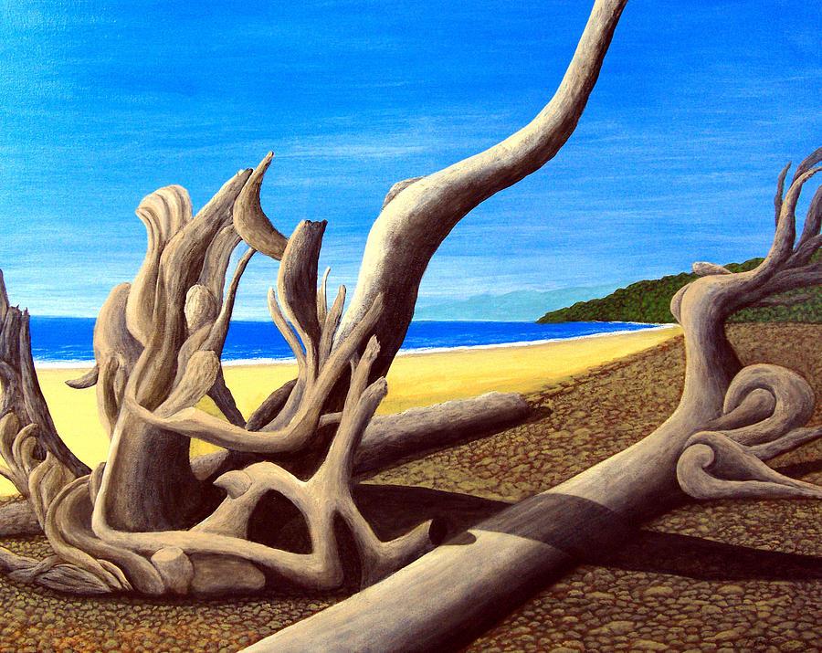 Driftwood - Natures Artwork Painting by Frederic Kohli