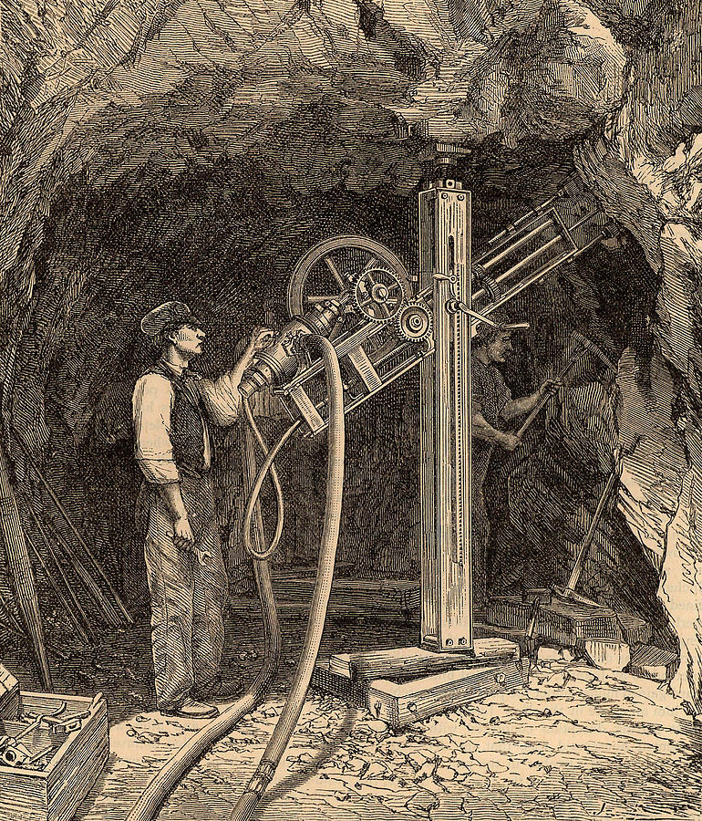 Drilling Photograph - Drilling Machine With Diamond Bit by Universal History Archive/uig