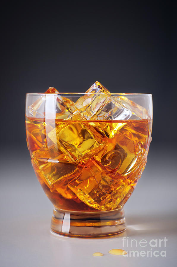 Alcohol Photograph - Drink On Ice by Carlos Caetano