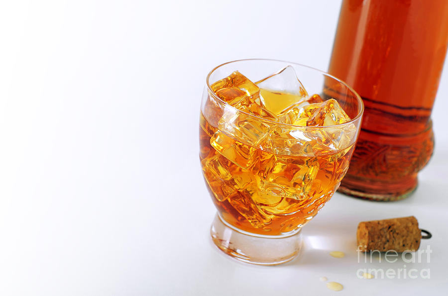 Alcohol Photograph - Drink On The Rocks by Carlos Caetano