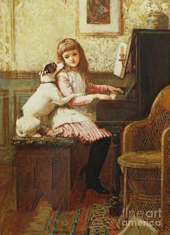 Dog Painting - Drink To Me Only With Thine Eyes by Charles Trevor Garland