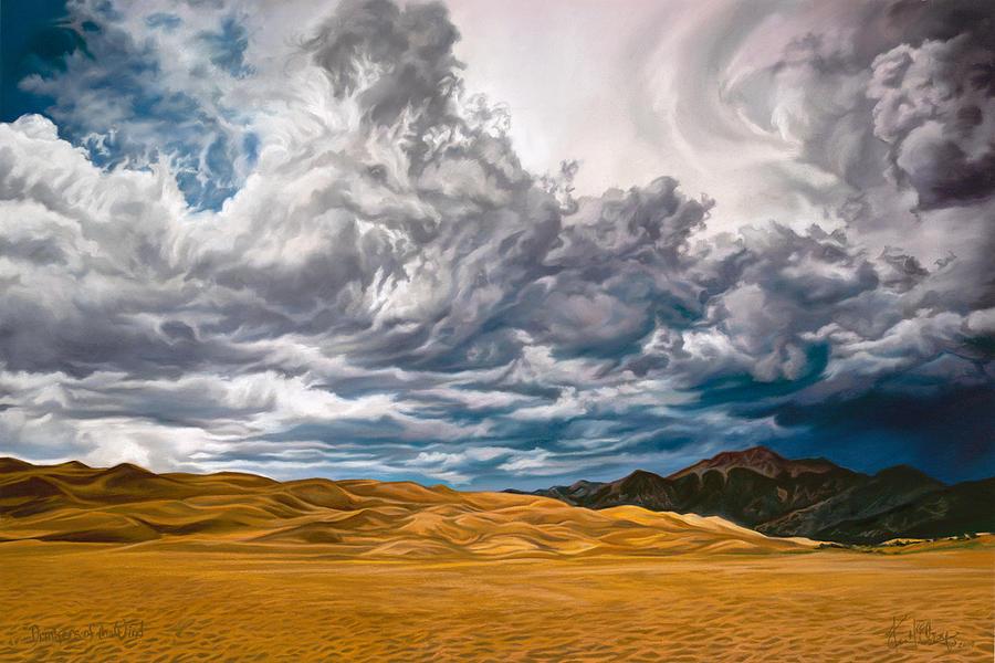 Arabian Horses Pastel - Drinkers of the Wind by Kim McElroy