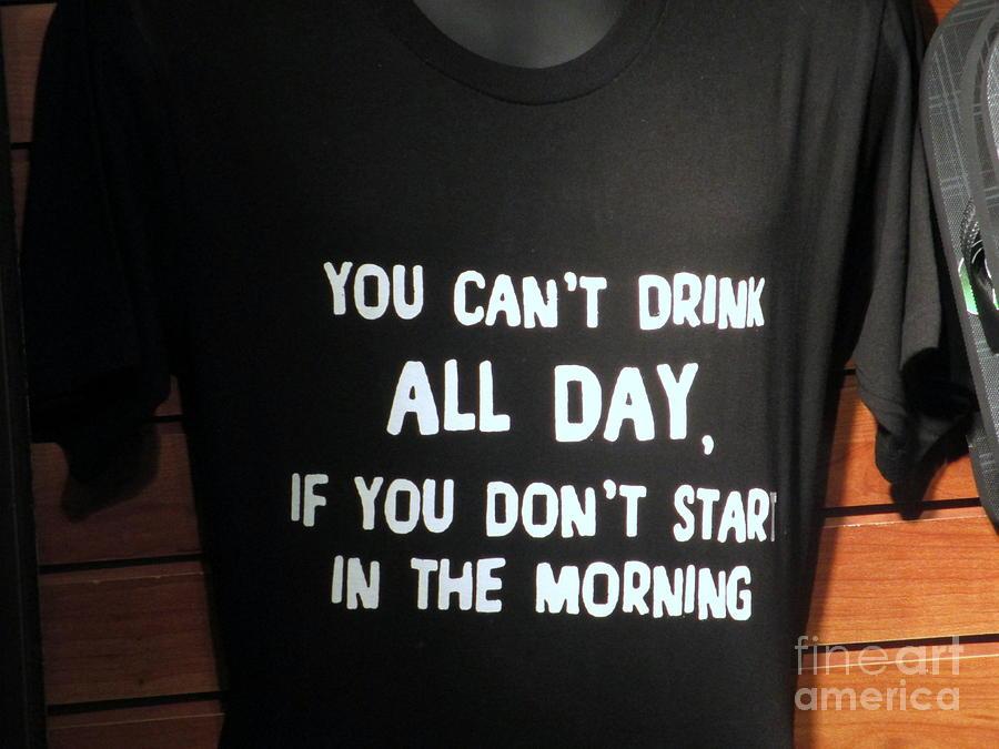 Drinking Photograph - Drinking Tee Shirt Art by Kay Novy