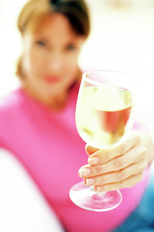Drink Photograph - Drinking Wine by Ian Hooton/science Photo Library