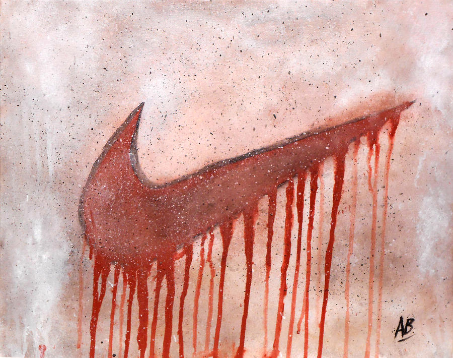 Dripping Nike Painting by Anwar Braxton