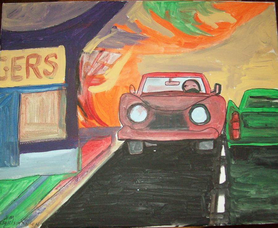 Drive In Painting - Drive In  by James Christiansen