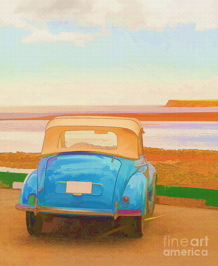Beach Photograph - Drive To The Shore by Edward Fielding