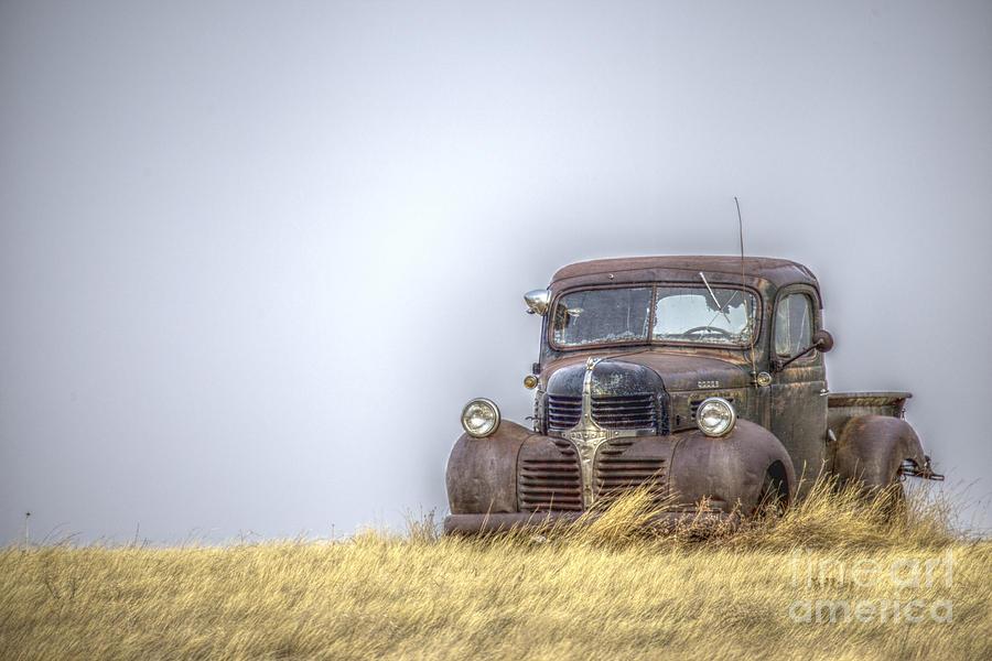 Car Photograph - A Rusty Abandoned Truck Near Sturgis South Dakota by Steve Triplett