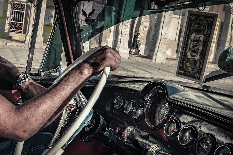Cuba Photograph - Driver by Andreas Bauer