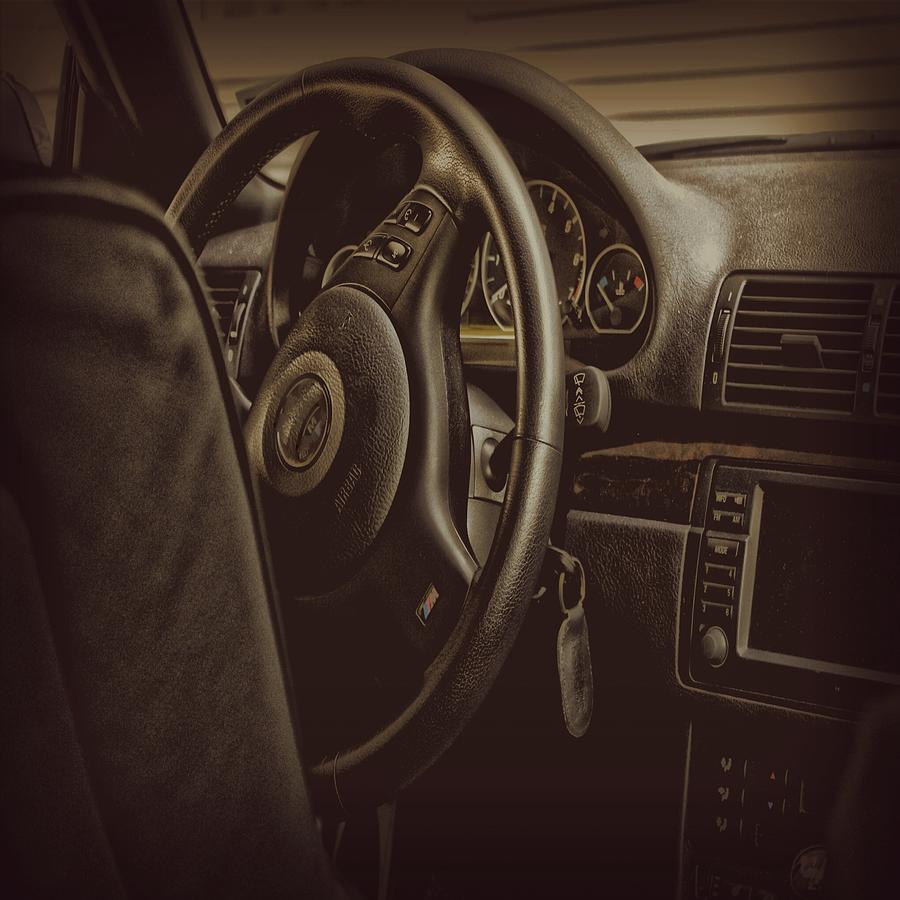 Car Photograph - Driver Seat by Angel Eowyn