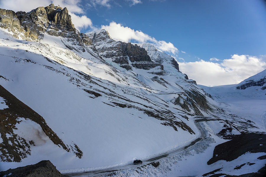 Growth Photograph - Driving A Van Up Icefields Parkway by Brandon Huttenlocher