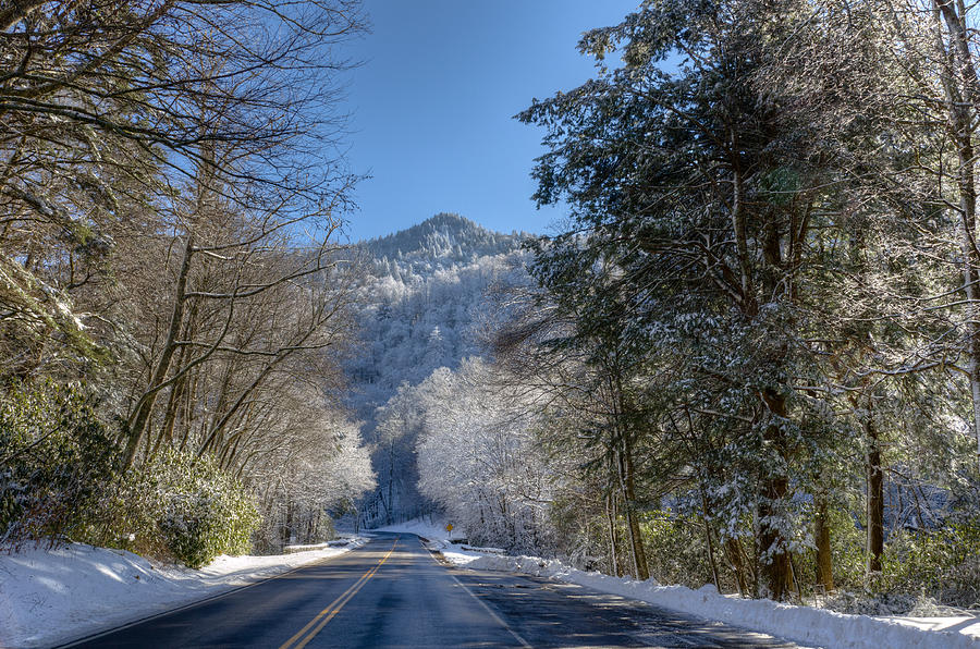 Great Smoky Mountains Photograph - Driving in a Winter Wonderland by Kristina Plaas