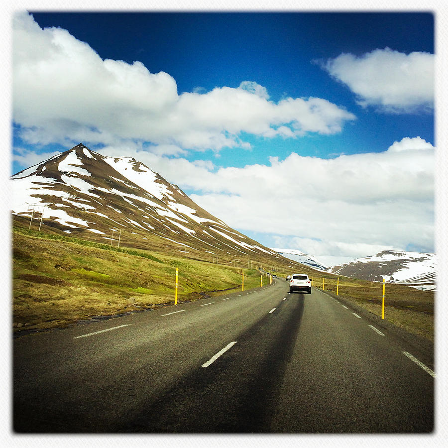 Iceland Photograph - Driving In Iceland - Road And Mountain Landscape by Matthias Hauser