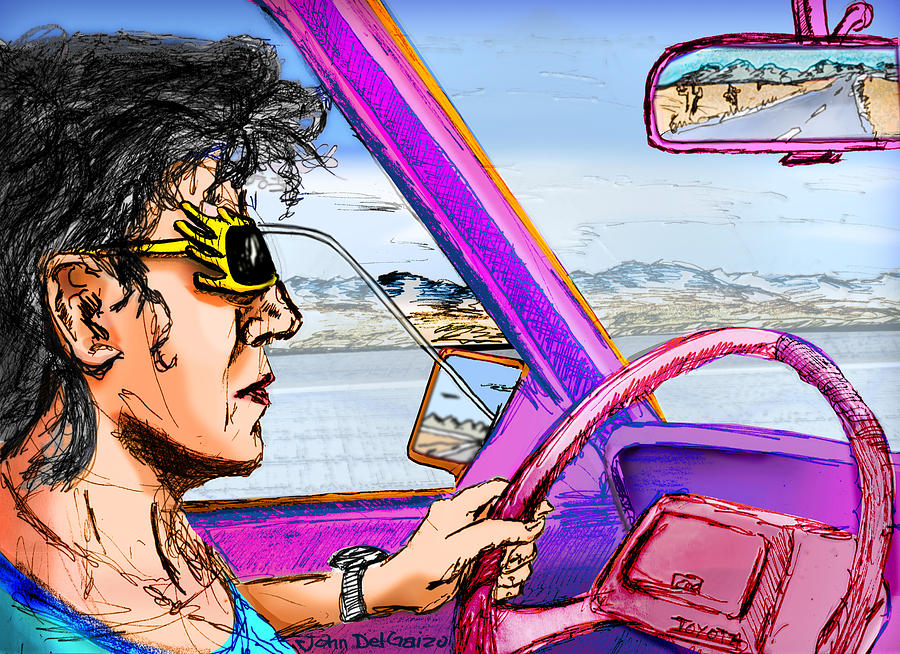 Driving Through Arizona Digital Art