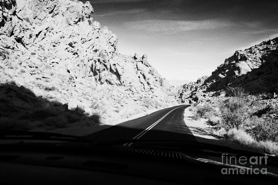 Valley Photograph - Driving Through Canyons On The White Domes Road Scenic Drive Valley Of Fire State Park Nevada Usa by Joe Fox